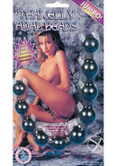 Thai Jelly Jumbo Anal Beads - Black