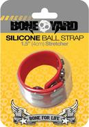 Bone Yard Silicone Ball Strap Red